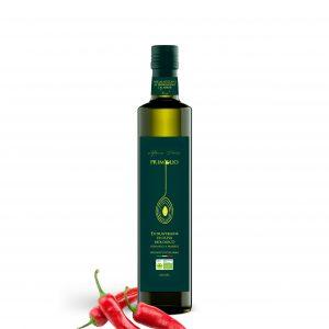 Huile d'Olive Extra Vierge au piment de Calabre