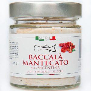 Baccalà alla vicentina à la crème de tomates séchées