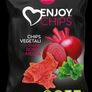 Chips de légumes à la betterave et à la menthe