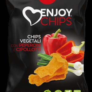Chips de légumes aux poivrons et oignon nouveau