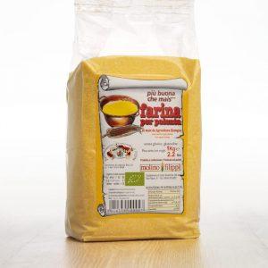 Farine de maïs biologique pour la polenta